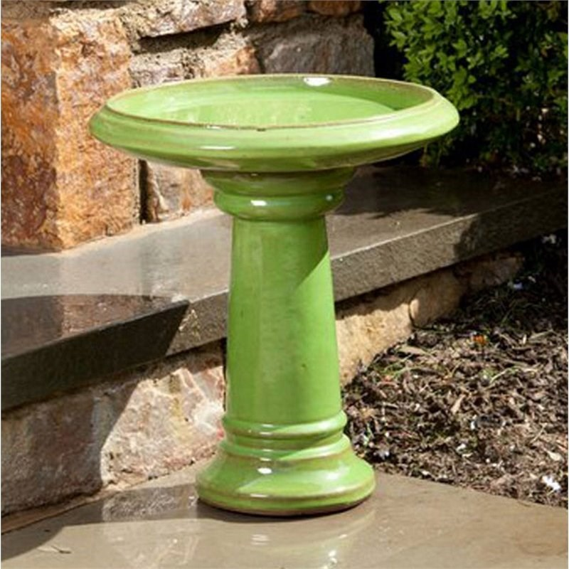 Alfresco Home Ischia Bird Bath in Chartreuse