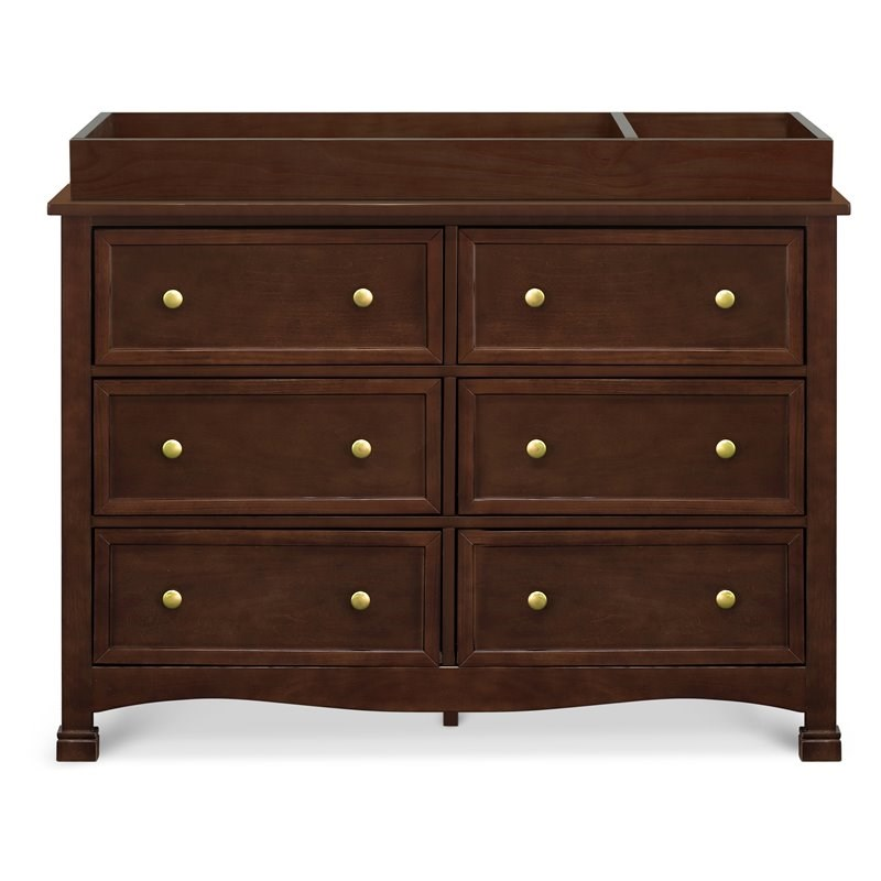 DaVinci Kalani 6 Drawer Double Wide Dresser in Espresso