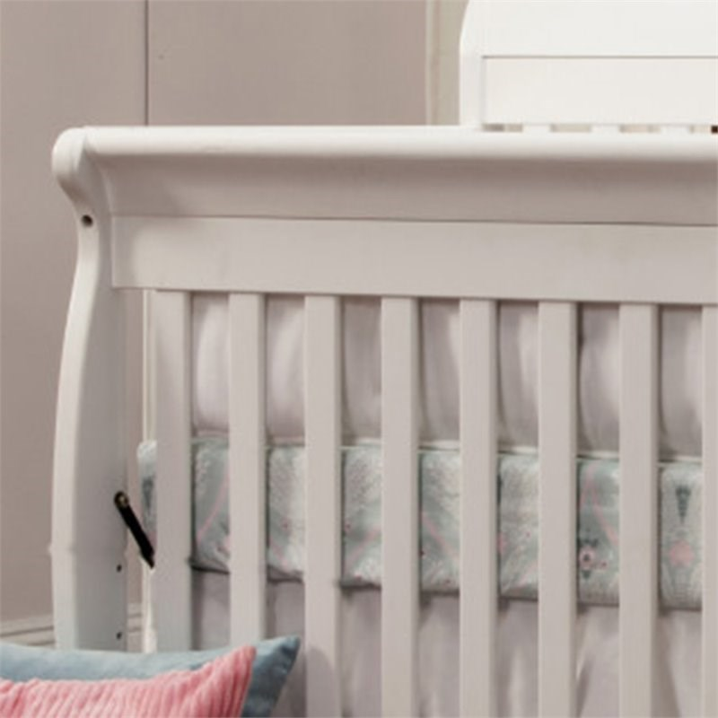 4-in-1 Convertible Crib and Dressers Set with Removable Changing Tray in White