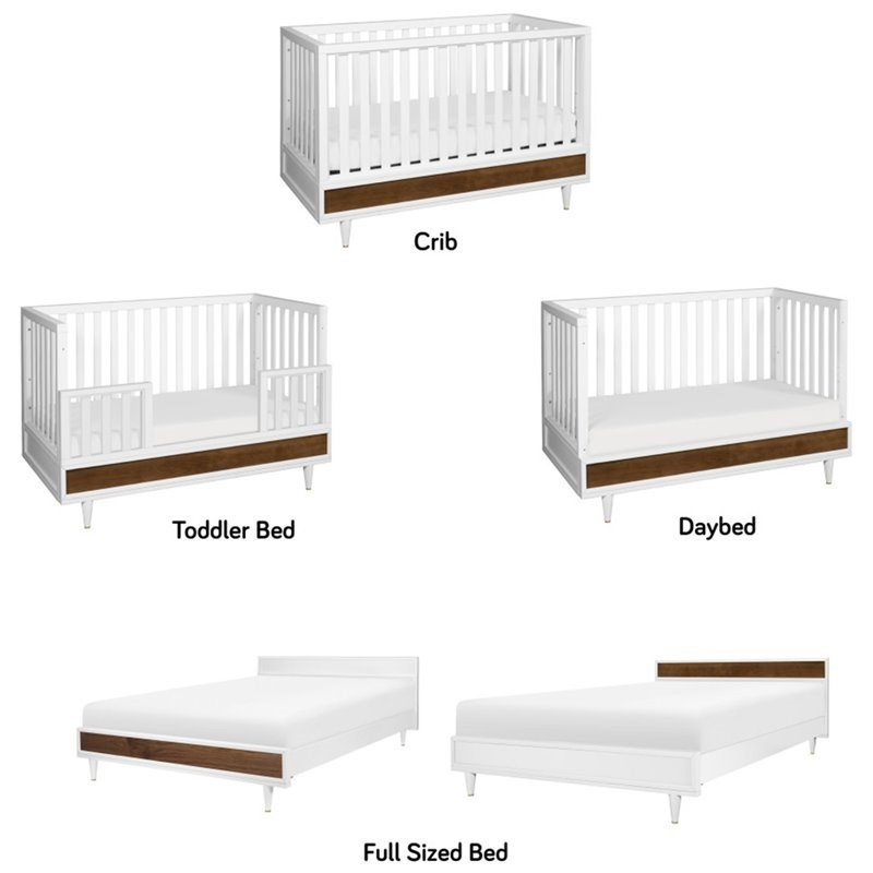 Babyletto Eero Full Size Bed Conversion Kit in White