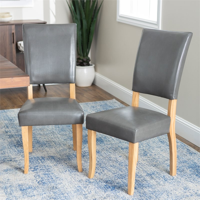 Open-Back Parsons Dining Side Chairs (Set of 2) - Charcoal
