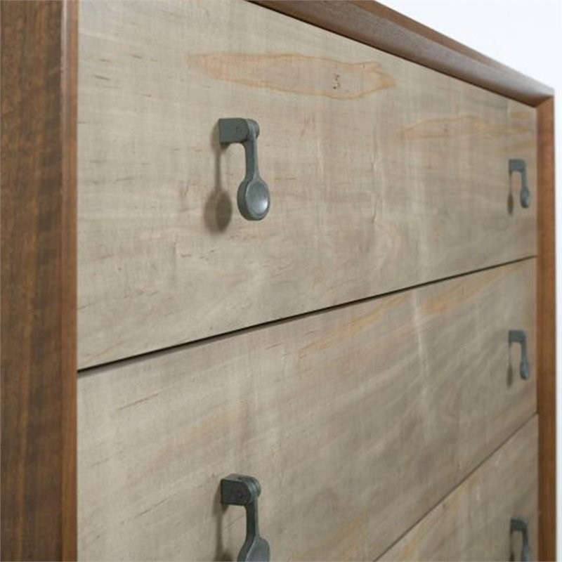 American Drew AD Modern Synergy Motif 5 Drawer Chest in Maple