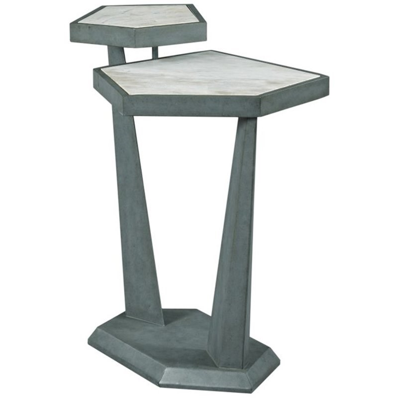 American Drew AD Modern Synergy Plane Accent End Table in Gray