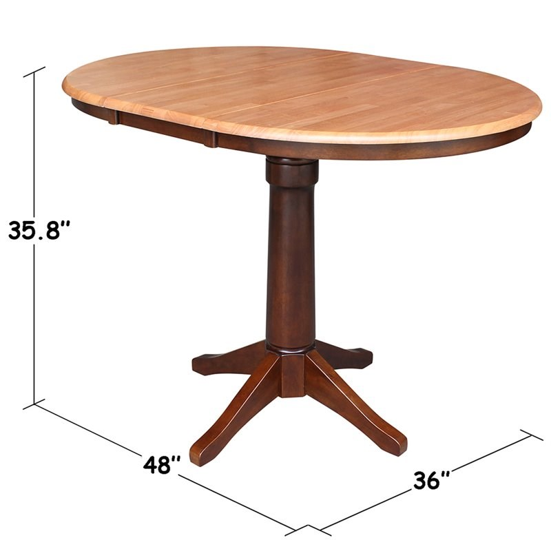 International Concepts Extendable Counter Height Dining Table