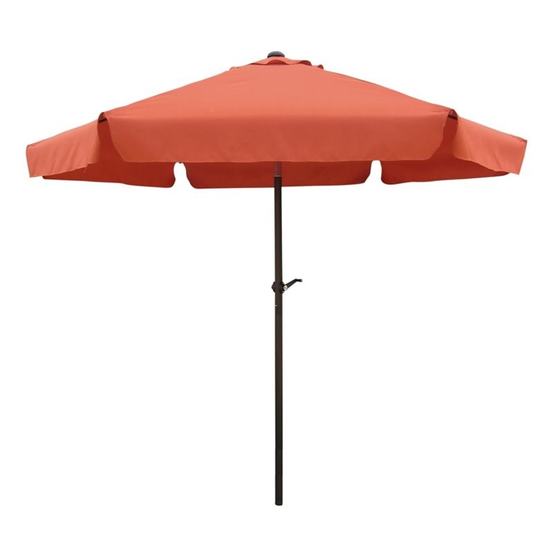 International Caravan St. Kitts 8' Tilt Crank Patio Umbrella in Terra