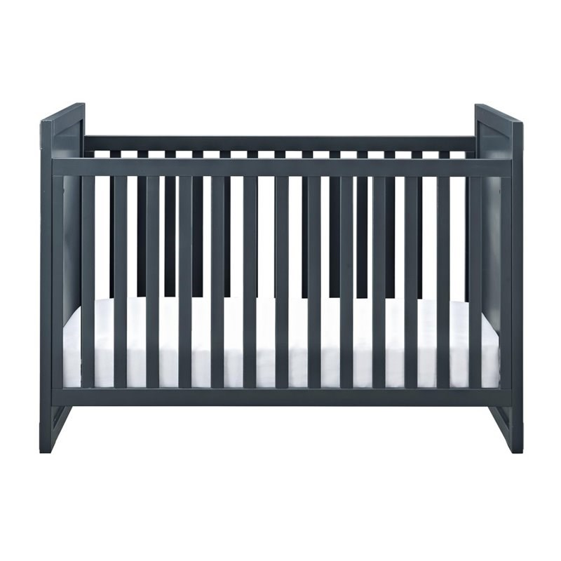 Baby Relax Miles 2 in 1 Convertible Crib in Graphite Blue
