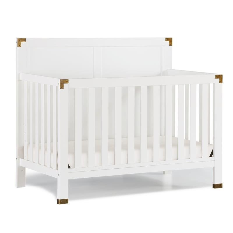 Baby Relax Miles 5-in-1 Convertible Crib in White