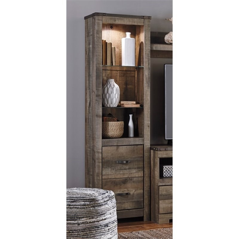 Ashley Furniture Trinell Tall Pier in Brown