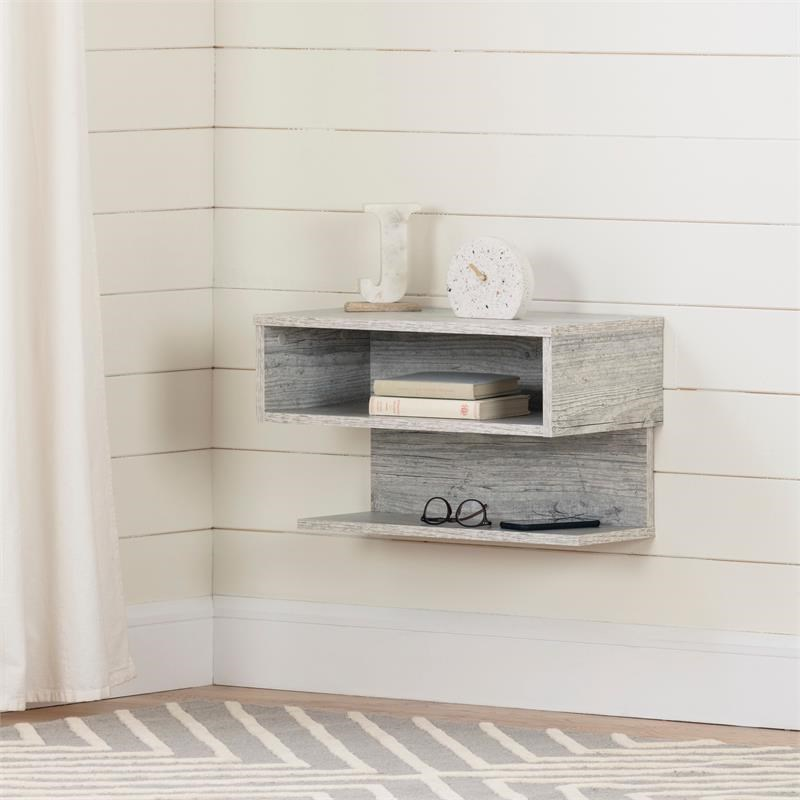 Sazena Floating Nightstand-Seaside Pine-South Shore