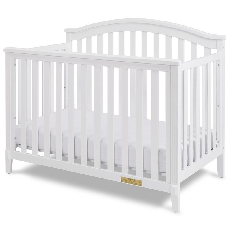 AFG Baby Kali II 4-in-1 Convertible Crib with Amber 2-Drawer Changer in White