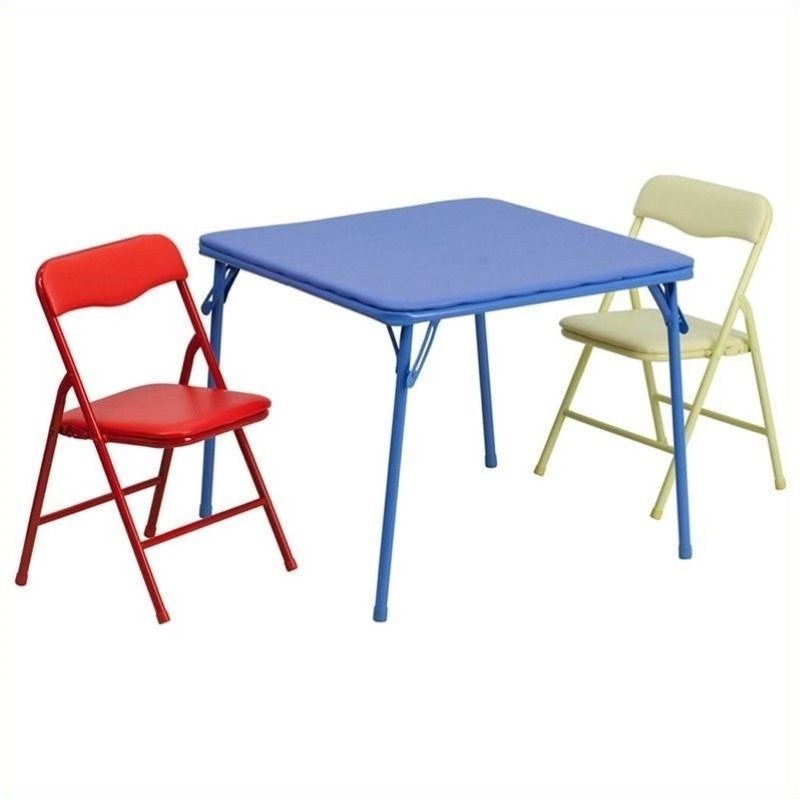 Rosebery Kids 3 Piece Folding Dining Table and Chair Set