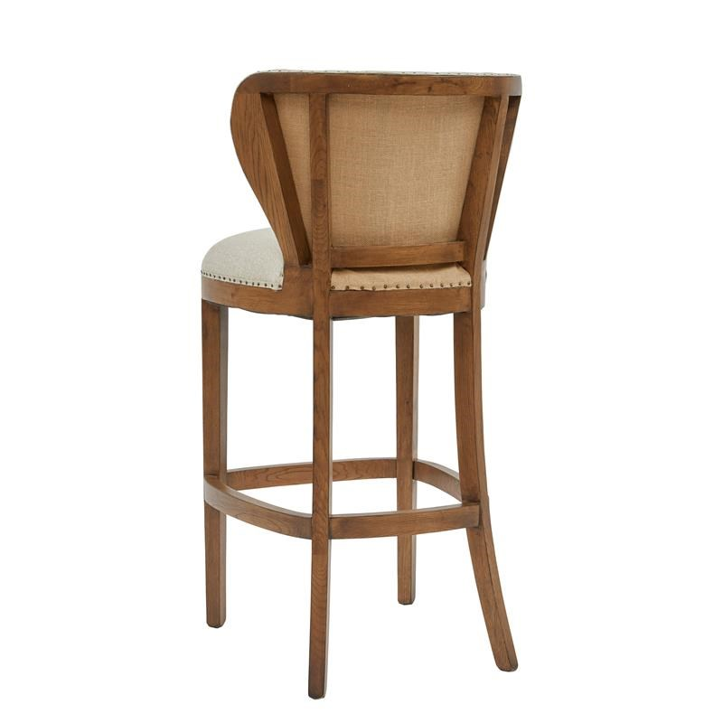 Farmhouse-Inspired Wood Deconstructed Barstool