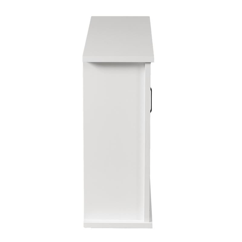 Farmhouse White MDF Bathroom Wall Cabinet