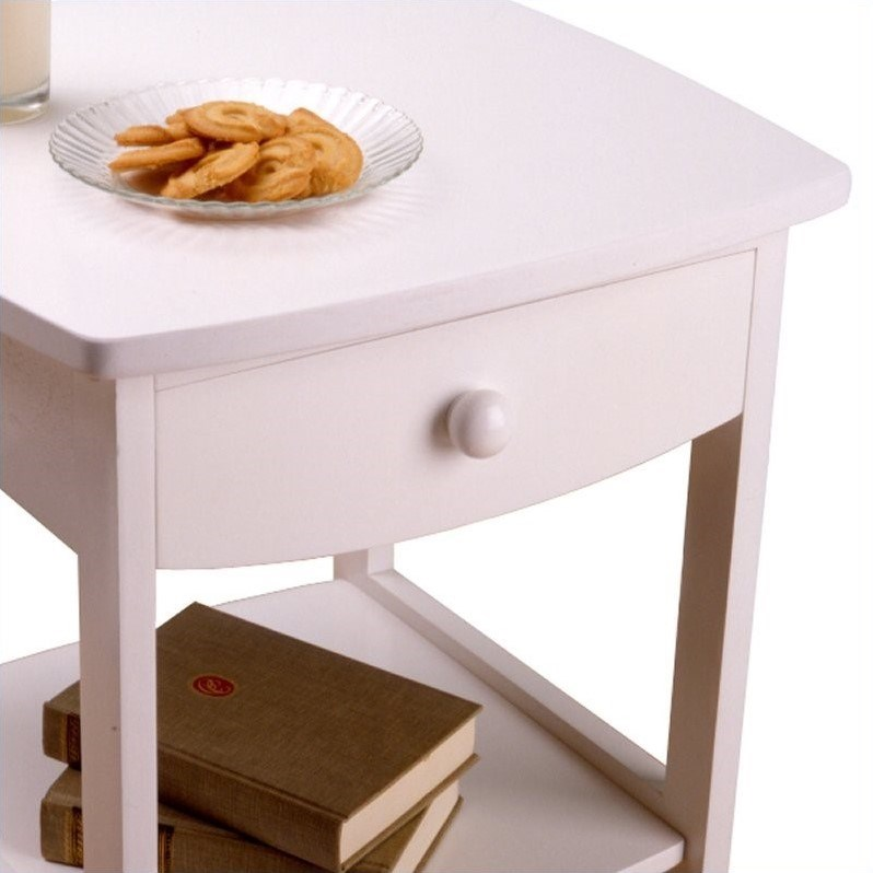 Winsome Basics Solid Composite Wood End Table in White