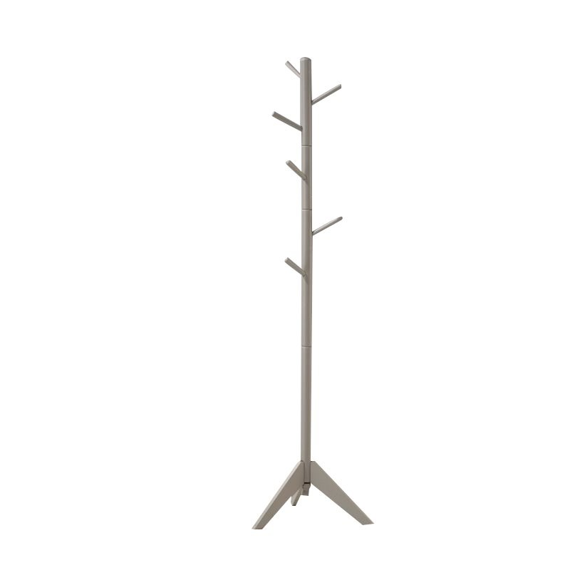 Coaster Coat Rack with 6 Hooks in Gray