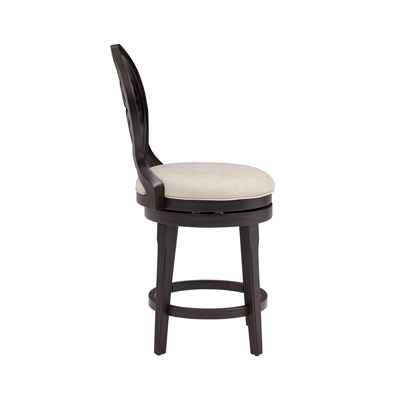 Hillsdale Furniture Savona Wood Swivel Counter Height Stool Aged Black