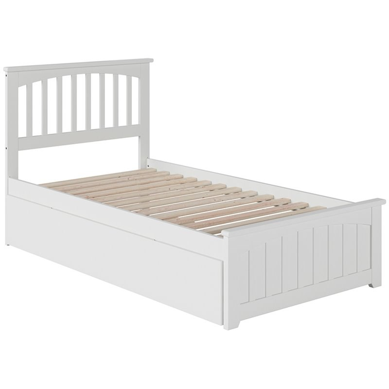 Atlantic Furniture Mission Urban Twin Trundle Platform Bed in White