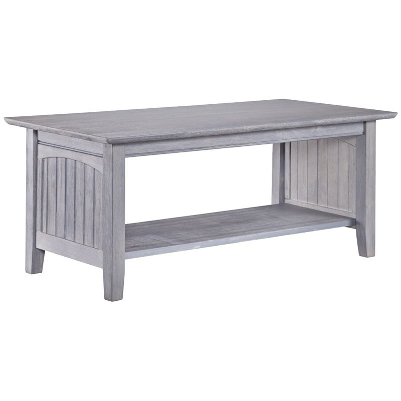 Atlantic Furniture Nantucket Coffee Table in Driftwood Gray